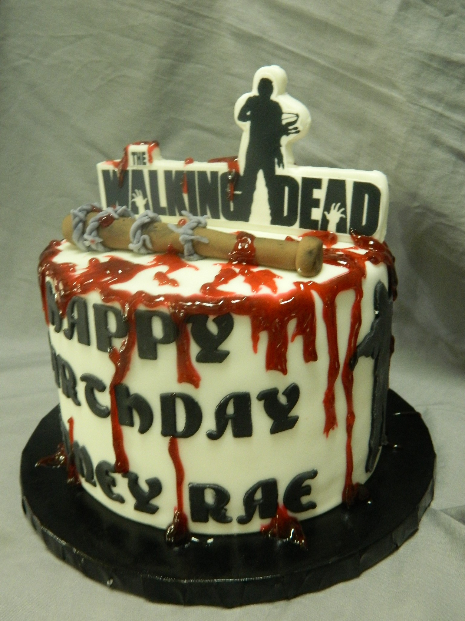 Walking Dead themed custom cake