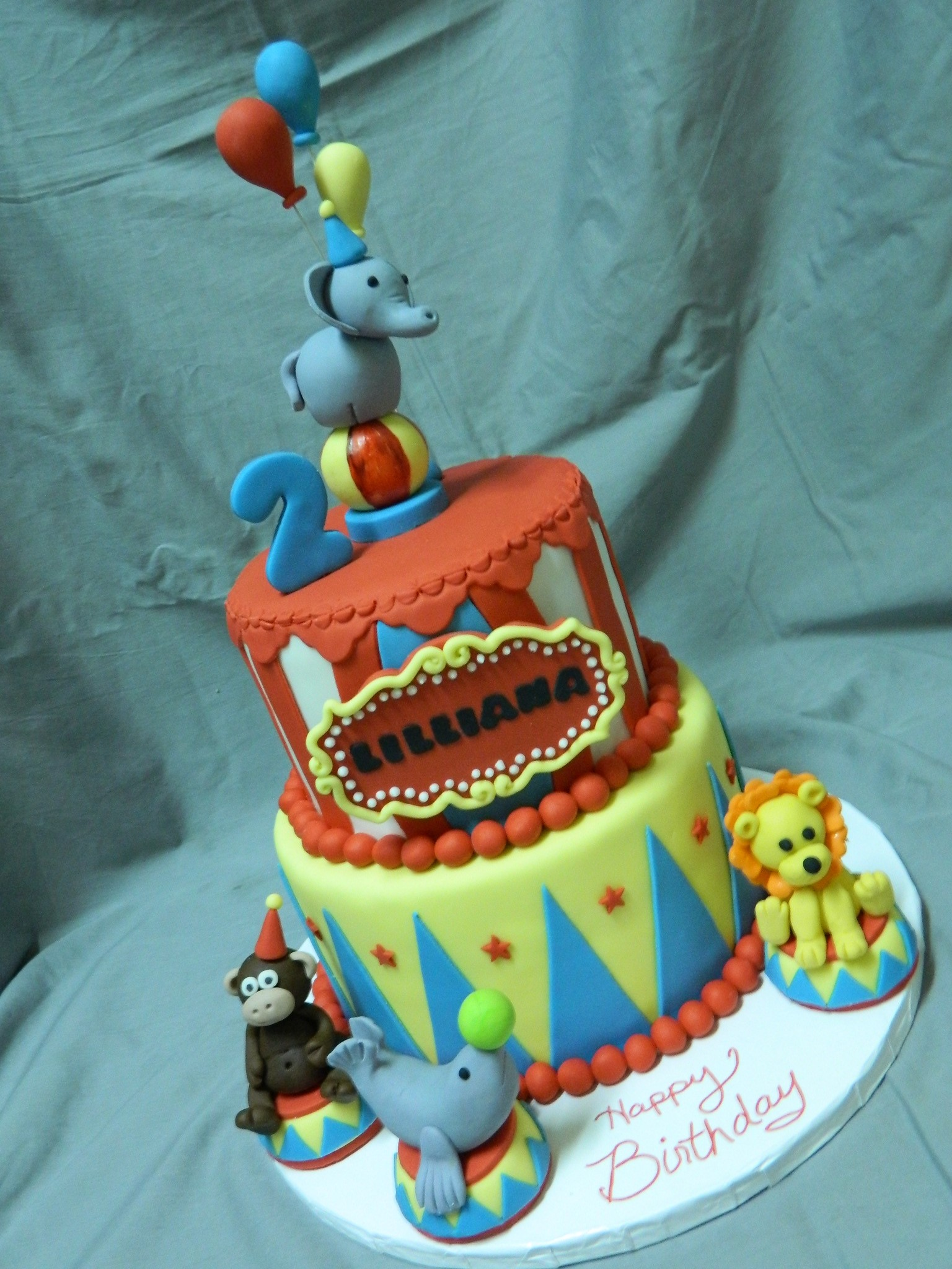 Circus themed custom cake