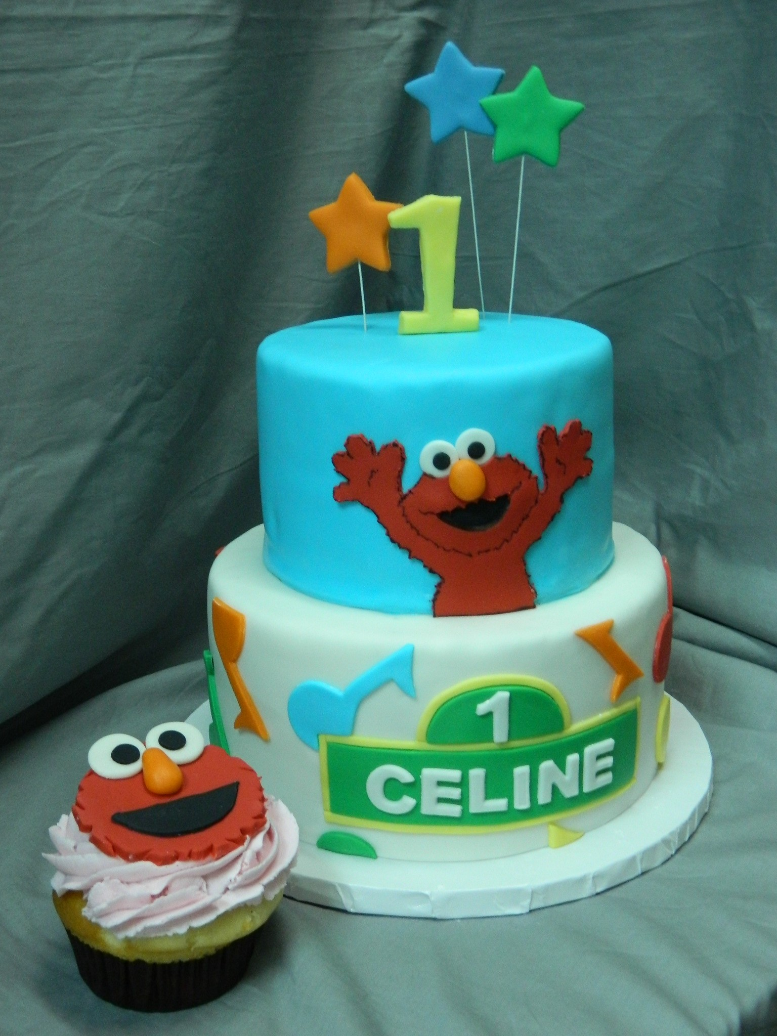 Elmo themed custom birthday cake