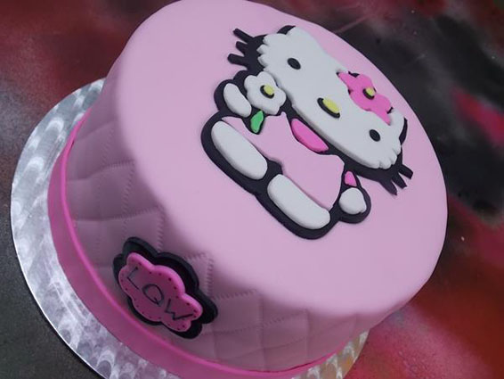 Hello Kitty Themed Cake