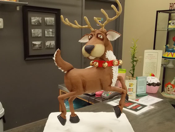 Rusty the Reindeer cake