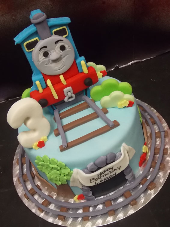 Thomas the Tank themed  cake