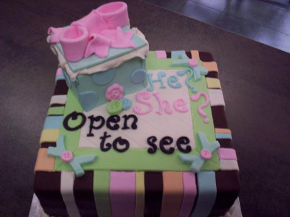 Baby Shower Gender Cake