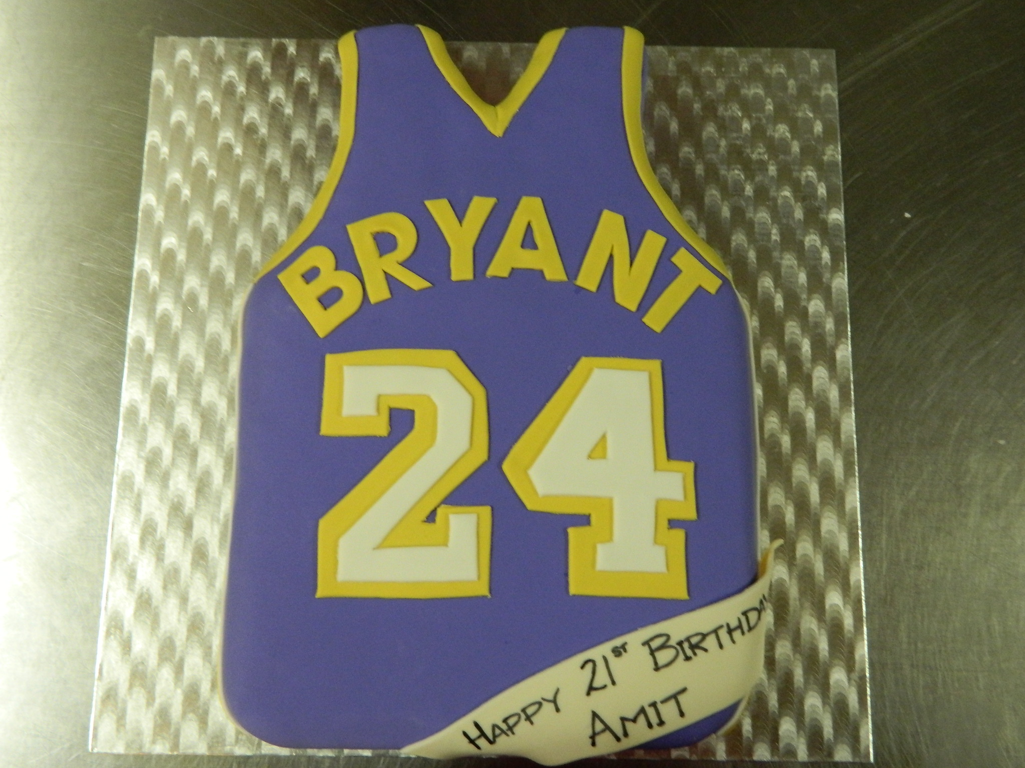 Basketball Jersey custom order cake