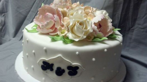 Floral bouquet custom cake