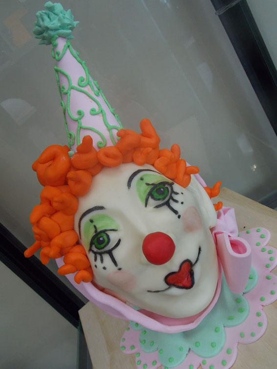 Circus Clown face themed cake