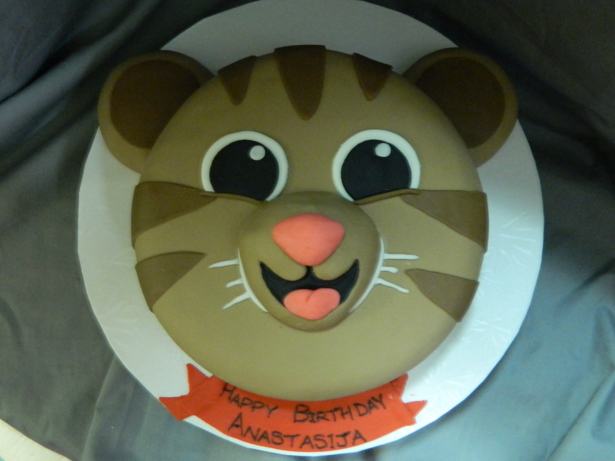 Daniel Tiger themed custom cake