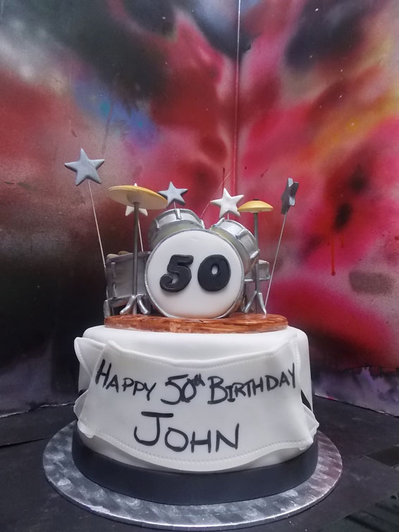 drum set custom cake