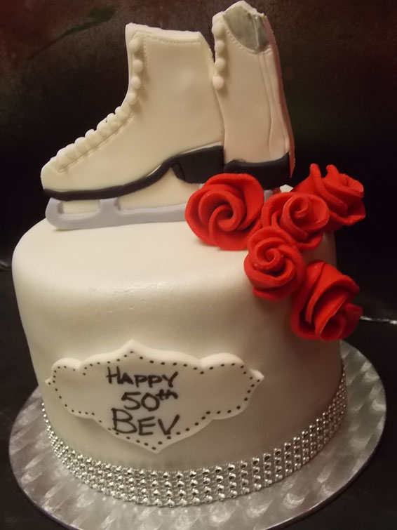 Figure Skating themed cake