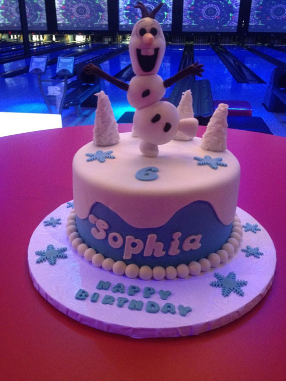 Olaf themed custom cake