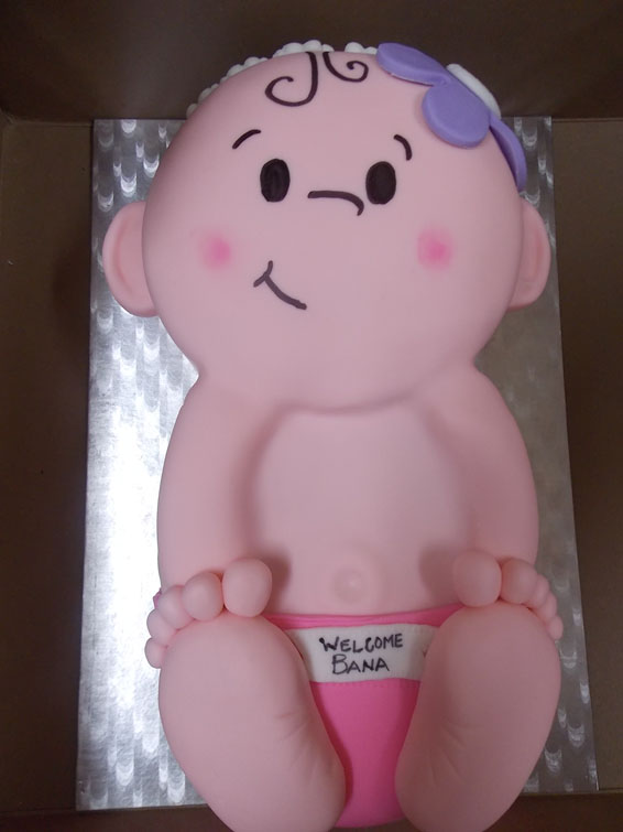Bundle of Joy custom baby shower cake