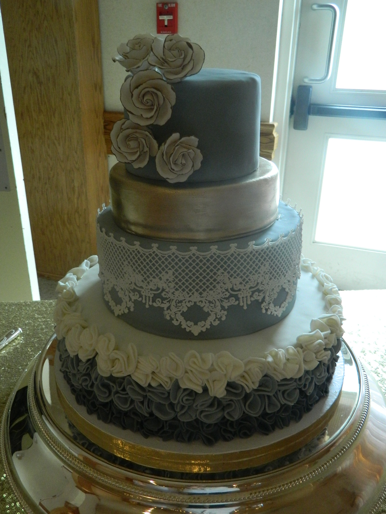 Ruffles 'n Lace custom wedding cake