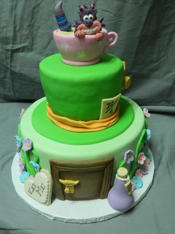 Mad Hatter themed custom cake
