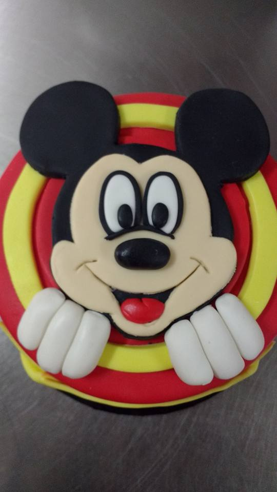 Mickey Mouse themed custom cake