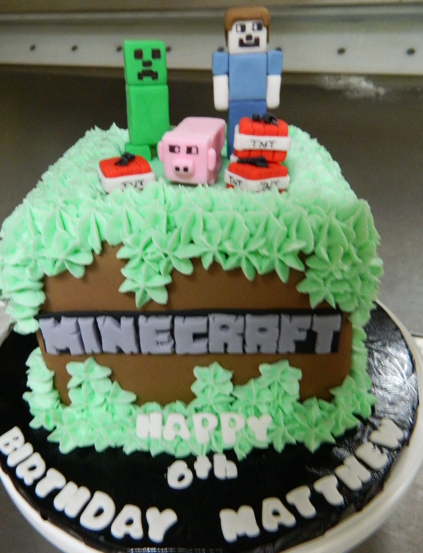 Minecraft themed custom cake