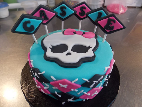 Monsters High themed custom cake
