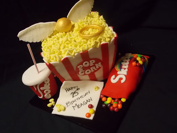 Movie time custom cake