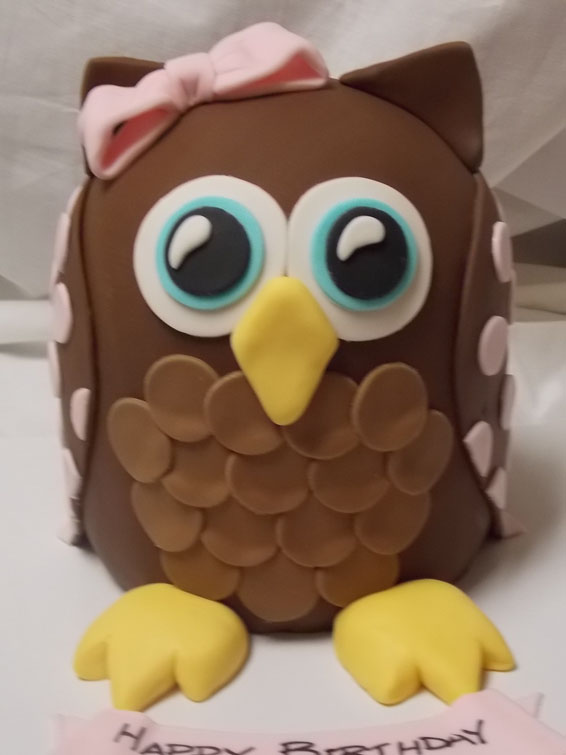 Whoooo's birthday is it? custom order cake