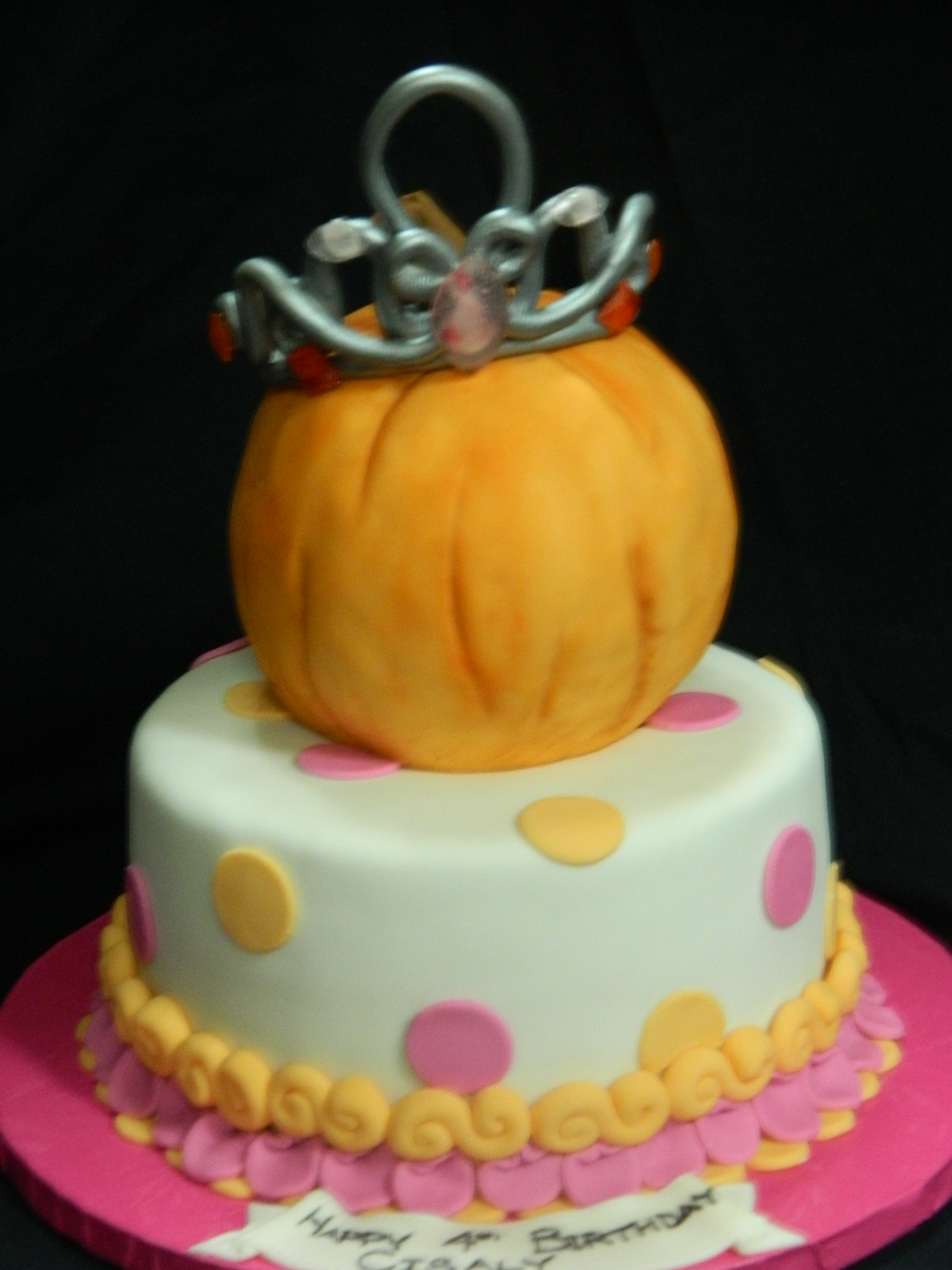 Princess Pumpkin themed custom cake