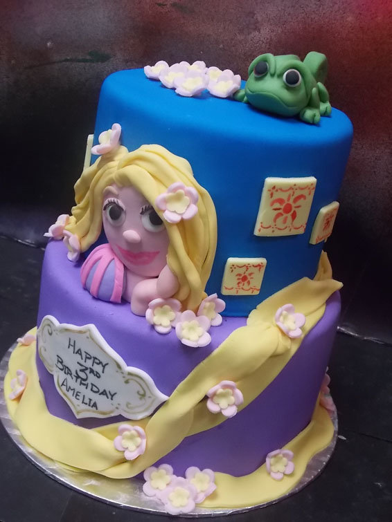 Rapunzel themed custom cake