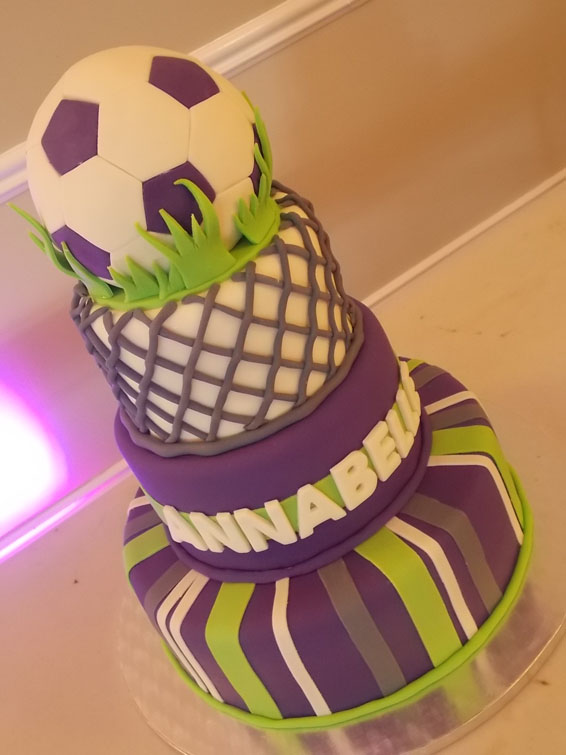 Soccer themed cake