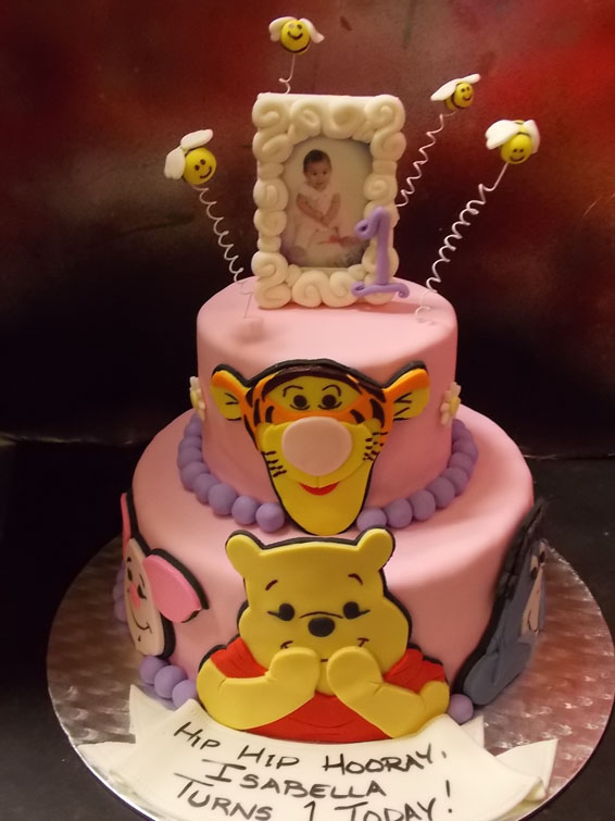 Winnie & friends themed custom cake