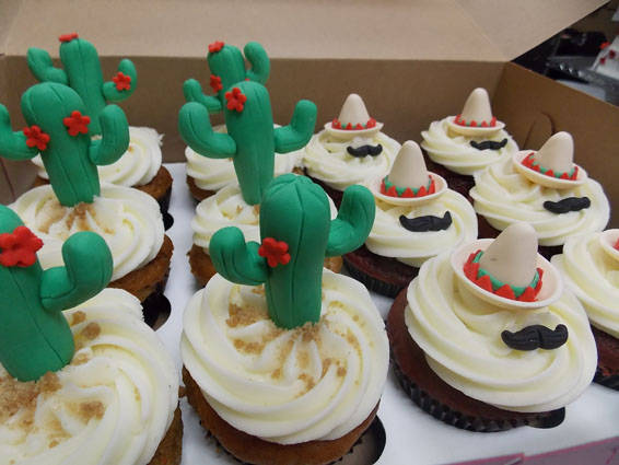 Mexican themed cupcakes