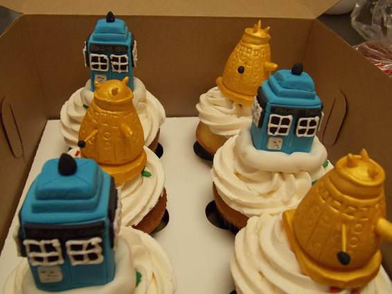 Dr Who themed cupcakes