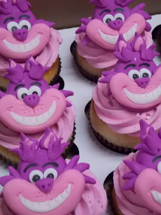 Cheshire Cat Cupcake Toppers