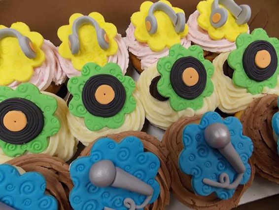 DJ Themed Cupcake Toppers