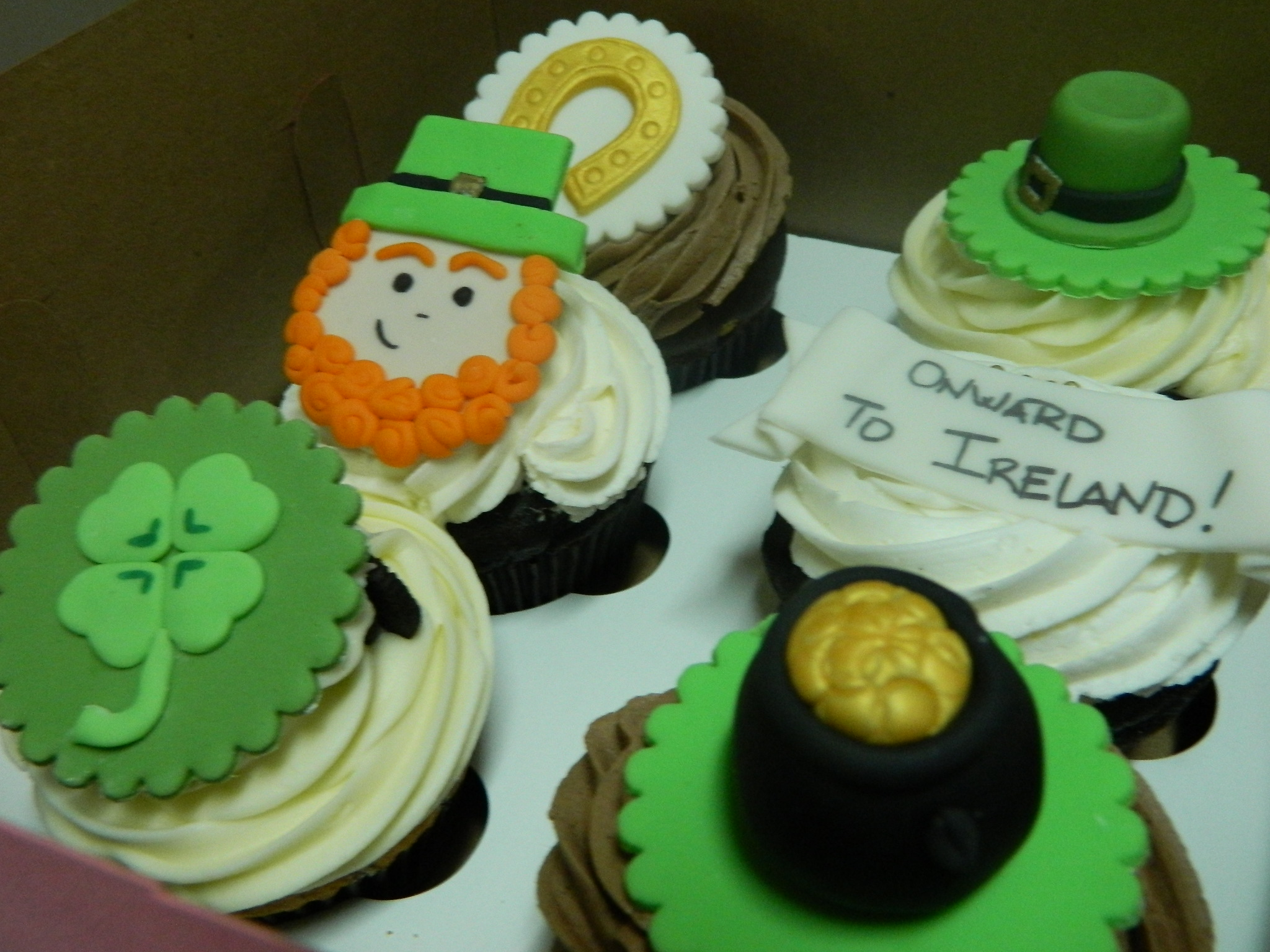 Luck of the Irish custom cupcakes