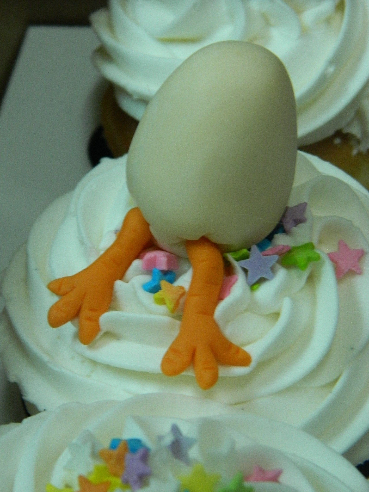 What came first...the chicken, the egg, or the CUPCAKE!