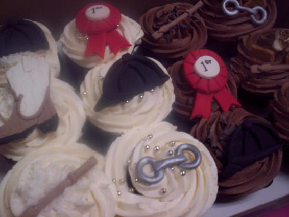 Equestrian Themed Cupcakes