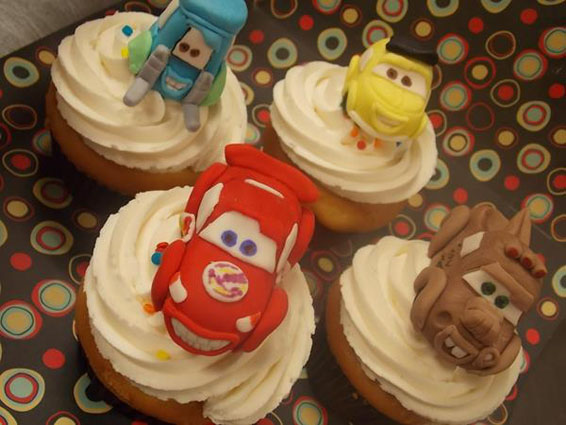 Cupcakes with Cars Toppers