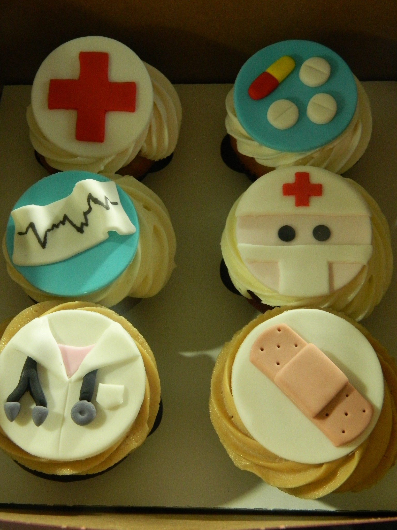 Doctor themed custom cupcakes