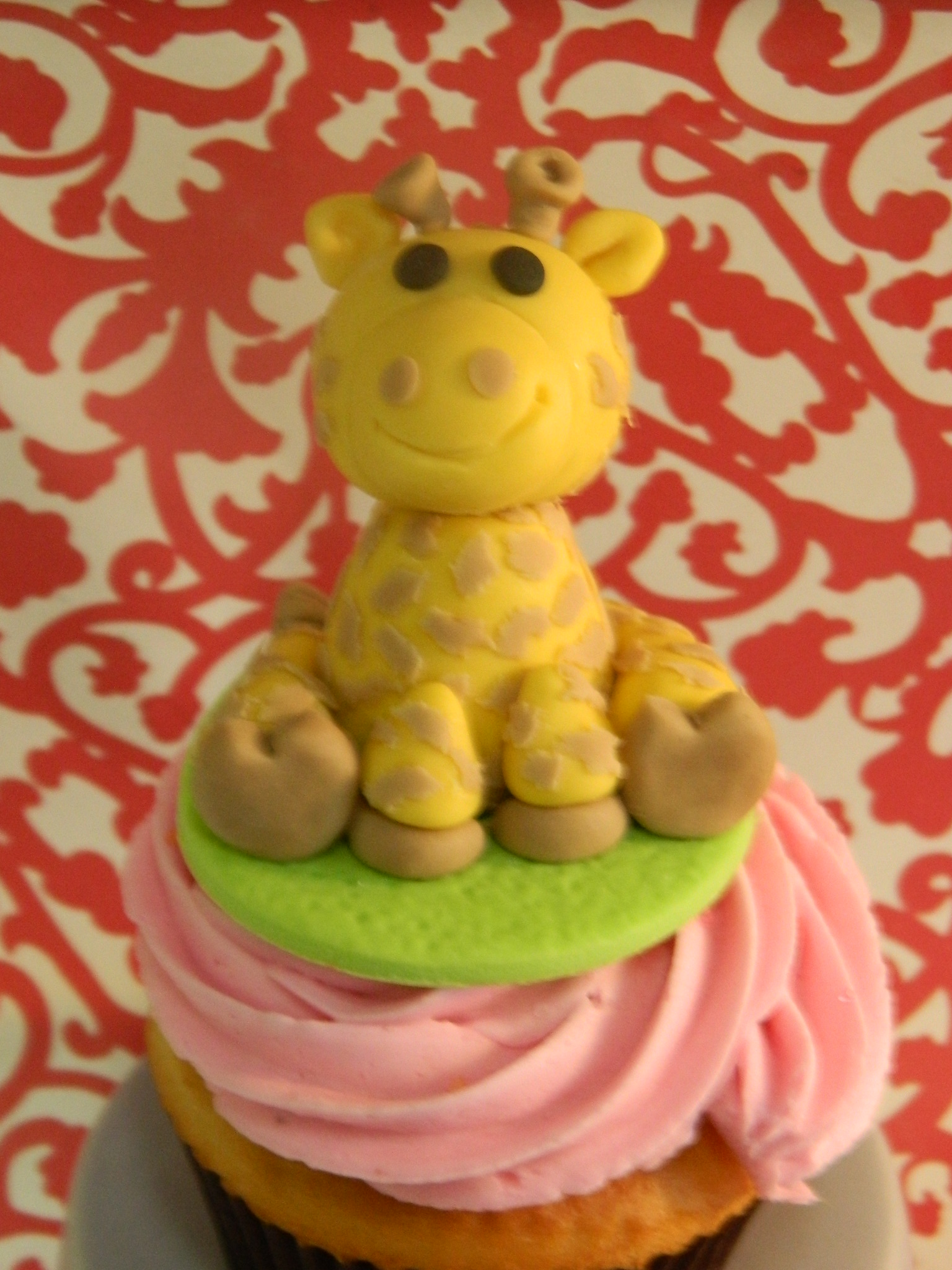 Giraffe themed custom cupcake