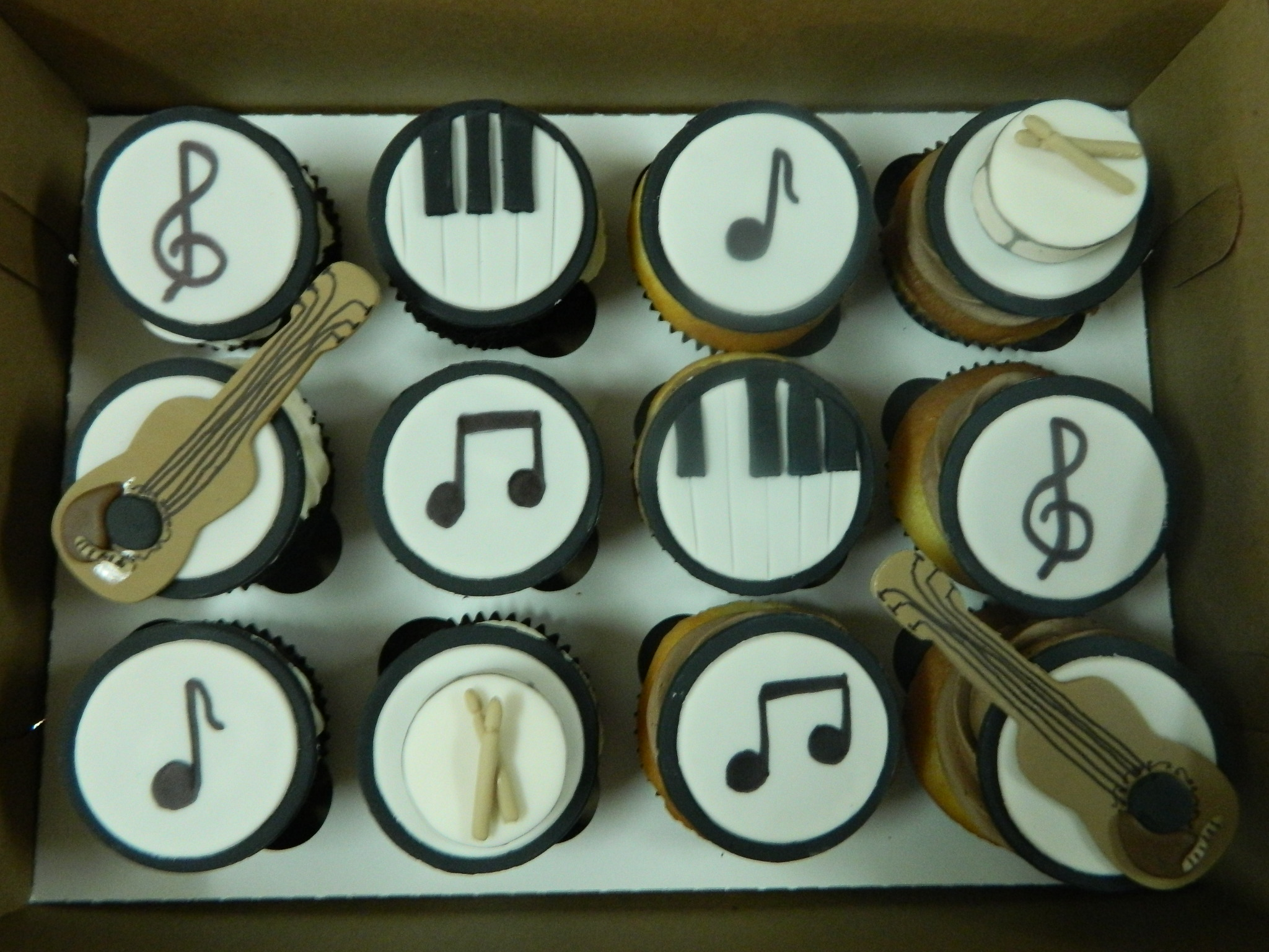Musical themed custom cupcakes