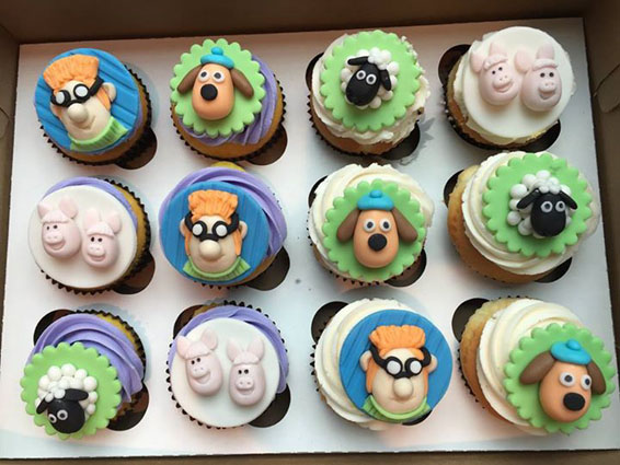 Shawn the Sheep themed custom order cupcakes