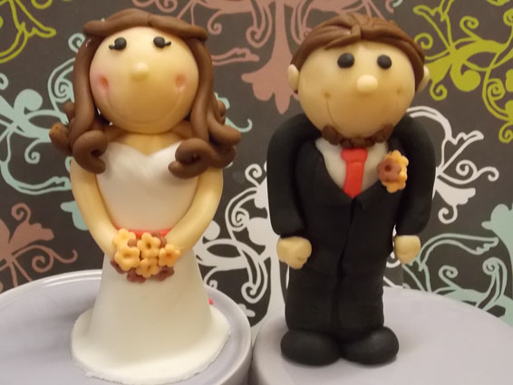 Wedding custom cupcake toppers